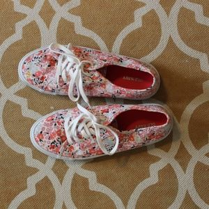 Old Navy floral print sneakers - only worn once!